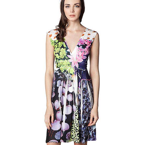 Šaty se skládanou sukní Flower Garden
