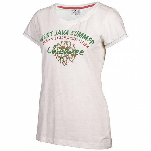 Dámské bílé tričko Chiemsee s potiskem