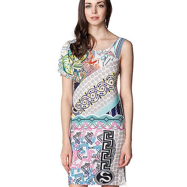Šaty s ramínkem a rukávem Pastel Lines