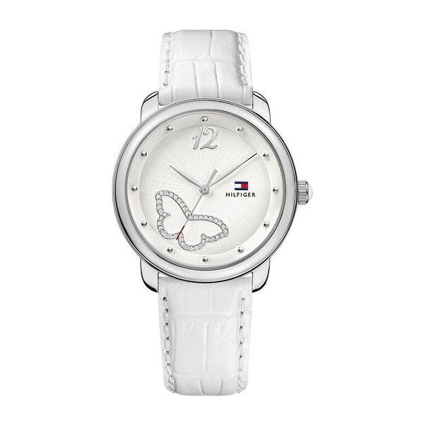 Dámské hodinky Tommy Hilfiger zdobené bílý pásek
