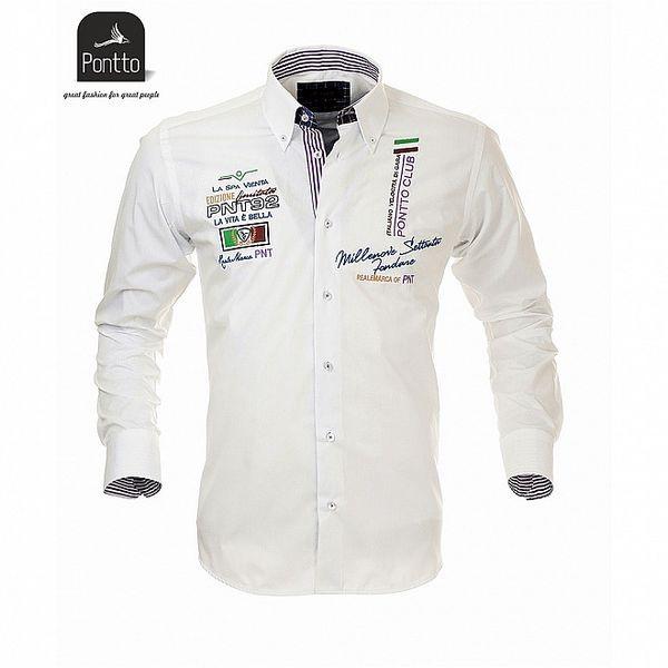 Pánska košeľa biela Pontto