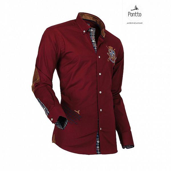 Pánská rudá košile Pontto