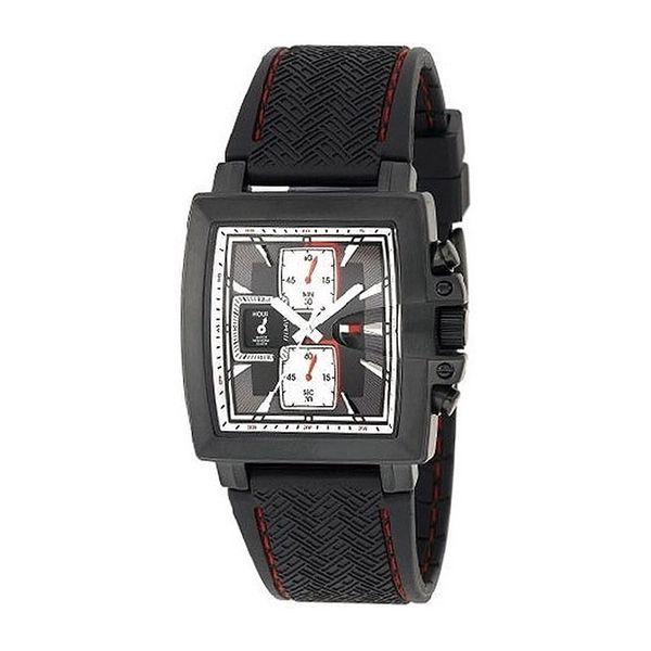 Pánské hodinky Tommy Hilfiger černé hranaté