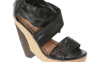 Dámské sandály Shooz černé na podpatku