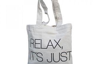 Taška Relax it´s just a bag z pevné bavlny, takže je můžete použít i na těžší nákupy.
