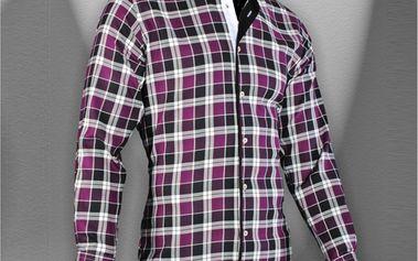 Pánská košile Pontto fialová kostka