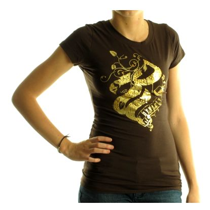 Dámské tričko Rocawear hnědé zlatý potisk