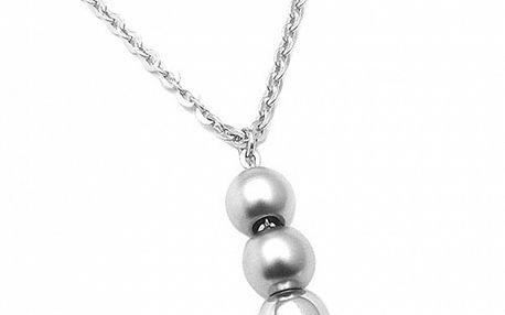 Dámsky oceľový náhrdelník Tribal Piercing s guličkami