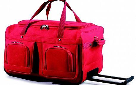 Dámska červená taška na kolieskach Artvi