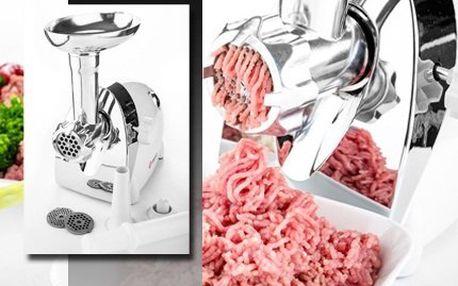Multifunkční elektrický mlýnek na maso se slevou 60 %