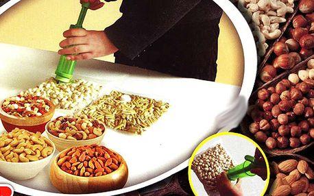 Uchovejte zbožňované oříšky čerstvé bez mikrobů a plísně s vakuovými pytlíky NUTS! Nabízíme Sadu 14 pytlů různých velikostí + náhradní, spolu s pumpičkou pro odsávání vzduchu!