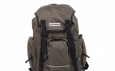 Khaki sportovní batoh s přezkami Artvi