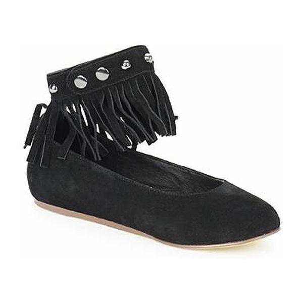 Dámské otevřené kotníkové boty Les Tropeziennes černé