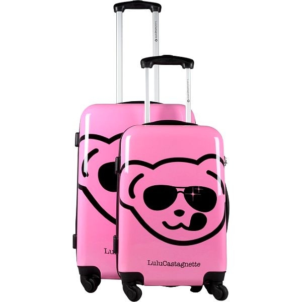 Set dvou růžových pevných kufrů na kolečkách Lulu Castagnette