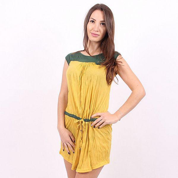 Dámské žluto-zelené šaty Enelle