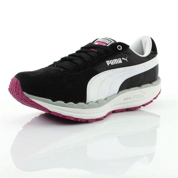 Dámské boty Puma černo-bílé s růžovou