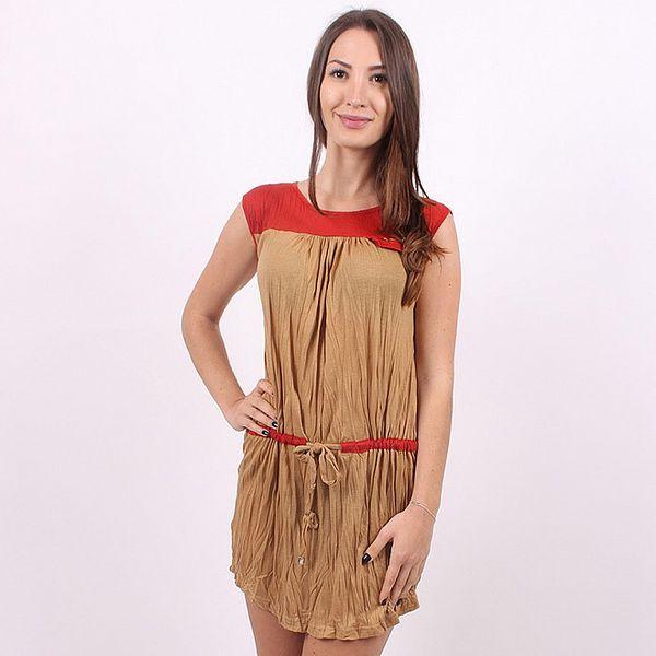 Dámské hnědo-červené šaty Enelle