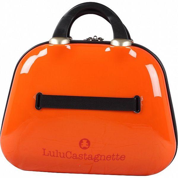 Dámsky oranžový kozmetický kufrík s medveďom Lulu Castagnette