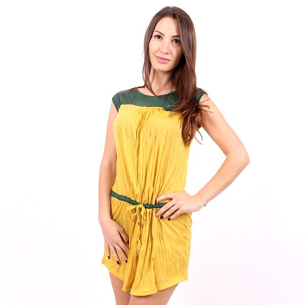 Dámske žlto-zeľané šaty Enelle
