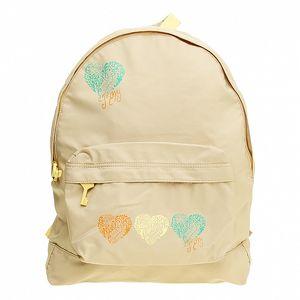 Dámsky svetlo béžový batoh so srdiečkami Roxy