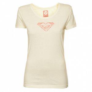 Dámske krémové tričko s potlačou srdca Roxy