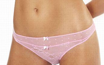 Dámske ružové čipkované nohavičky Agio