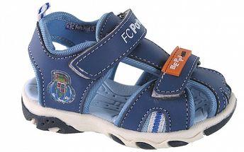 Detské modré kožené sandálky Beppi