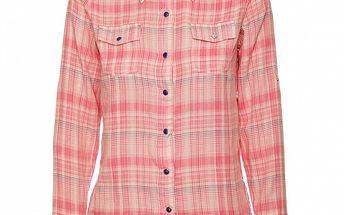 Dámská růžovo-modrá kostkovaná košile Roxy