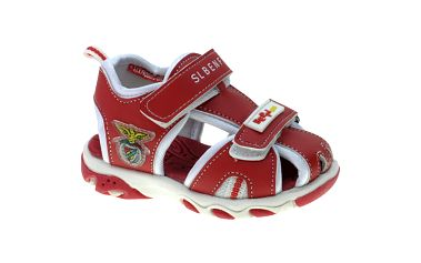 Detské červené kožené sandálky Beppi