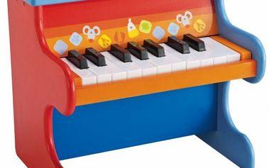 Sevi Dřevěné piáno - II. jakost - vybaven 18ti klávesy, které vydávají skutečný zvuk piána.
