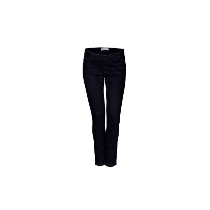 Tmavě modré skinny džíny, pod břicho