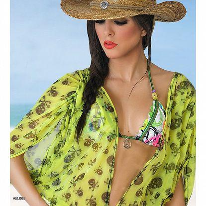 Dámský zelený plážový overal s lebkami Amelia Botero