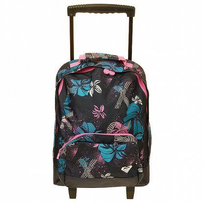 Dámska čierna vzorovaná taška na kolieskach Roxy