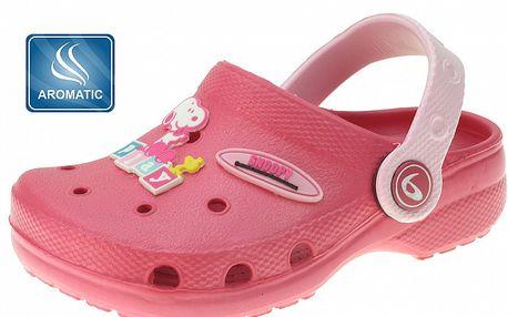Detské ružové gumové papuče Beppi s vôňou