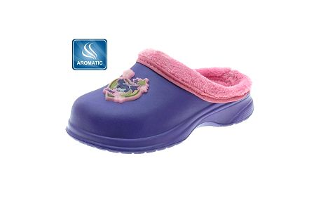 Dětské fialové pantofle Beppi s vůní a plyšem