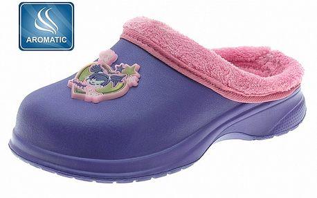 Detské fialové papuče Beppi s vôňou a plyšom