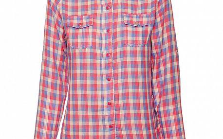 Dámska ružovo-modrá kockovaná košeľa Roxy