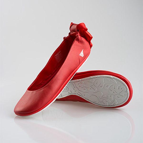 Červené baleríny s mašlí Gola
