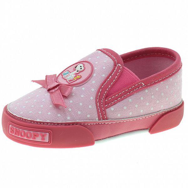Dětské růžové puntíkované botičky Beppi
