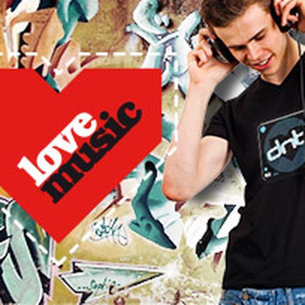 Provokativní pánská bavlněná trička LoveMusic