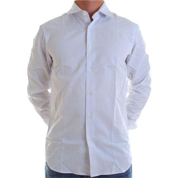Pánská košile Calvin Klein bílá bílý knoflík