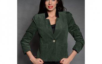 Dámske tmavo zelené menčestrové sako Simonette
