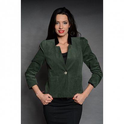 Dámské tmavě zelené manšestrové sako Simonette