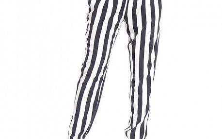 Dámske čierno-biela pruhované nohavice Simonette