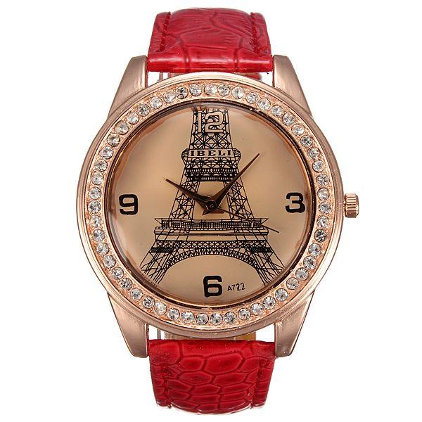 Dámské hodinky s Eiffelovkou a poštovné ZDARMA! - 170