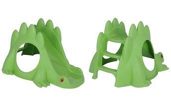 Dětská skluzavka ve tvaru dinosaura v zelené barvě