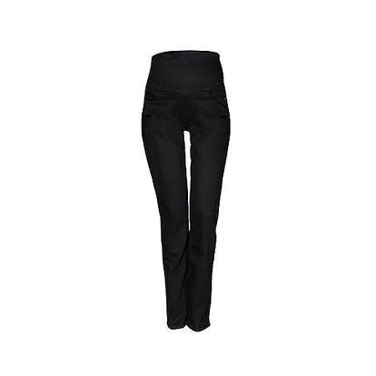 Černé džíny dole rozšířené s džínovým pásem