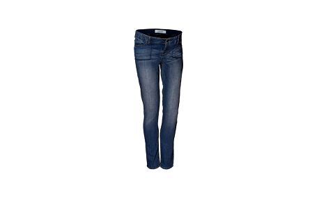 Modré skinny džíny, pod břicho