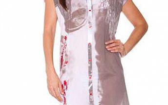 Dámská šedo-bílá plážová košile Sandalo