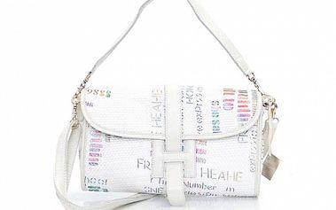 Dámská bílá kabelka s grafickým potiskem Sandalo